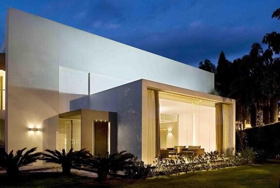 Fachadas de sobrados com cortina Projeto de André Martins