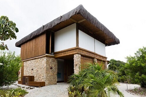 Fachadas de sobrados rústicos Projeto de AMC Arquitetura