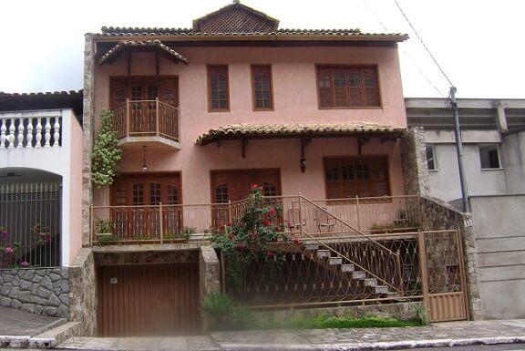 Fachadas de sobrados salmão Projeto de Sheila Pereira Cyrne