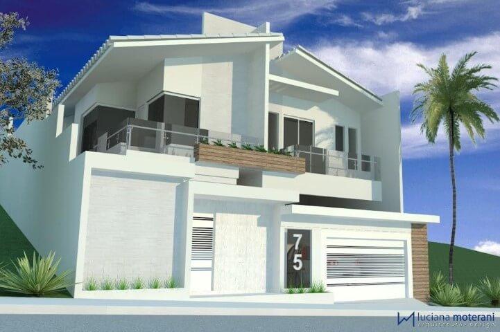 Frente de casas com varanda Projeto de Luciana Moterani