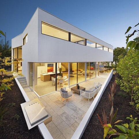 Frente de casas modernas Projeto de Jessica Carine Cunha