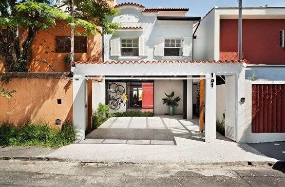 Frente de casas simples Projeto de Odvo Arquitetura