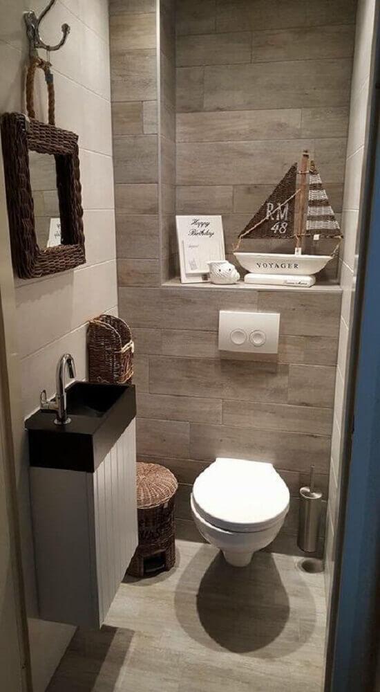 Itens de decoração de lavabo pequeno