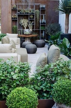 Jardim com diversas plantas para jardim Projeto de Casa Cor SP 2017