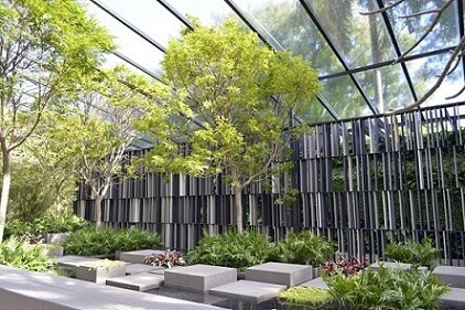 Jardim com telhado de vidro Projeto de Casa Cor 2016