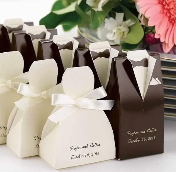 Lembrancinhas de casamento simples feitas de papel