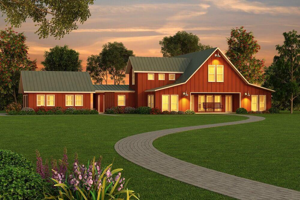 Modelo de casa de fazenda