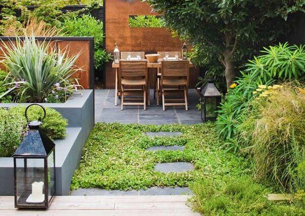 Modelos de jardim para área de lazer pequena