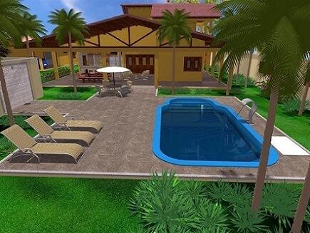 Modelos de piscinas de fibra Projeto de Simone Cravo