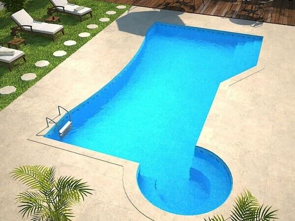 Modelos de piscinas em vinil para quintais