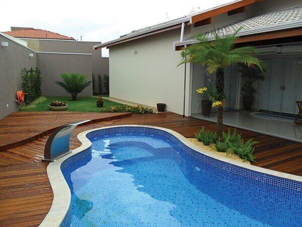 Modelos de piscinas em vinil para residencias