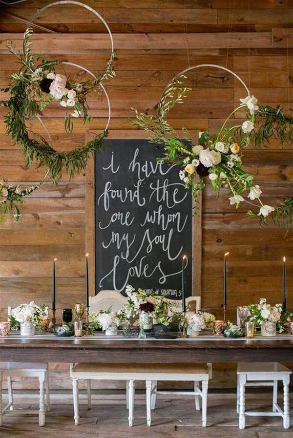 Chalkboard can make all the difference in simple wedding decor