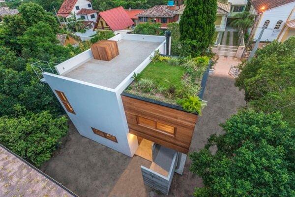 O telhado verde diminui a temperatura interna da casa