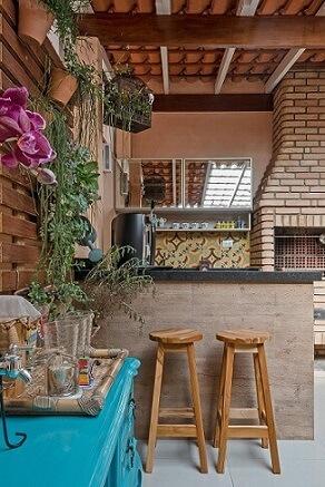 Plantas para jardim vertical em varanda gourmet Projeto de Kathia Pimmenta