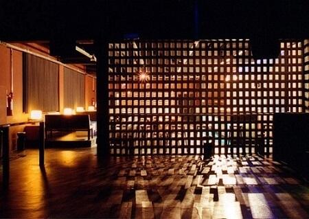 Restaurante com repartição de cobogó Projeto de Arq Donini