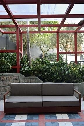 Sala com telhado de vidro Casa Cor 2016