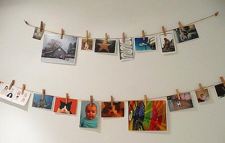 Varal de fotos diversas