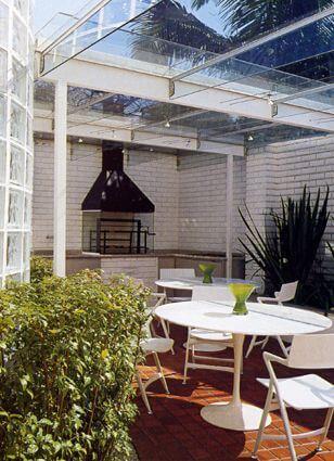 Varanda gourmet com telhado de vidro Projeto de Brunete Fraccaroli
