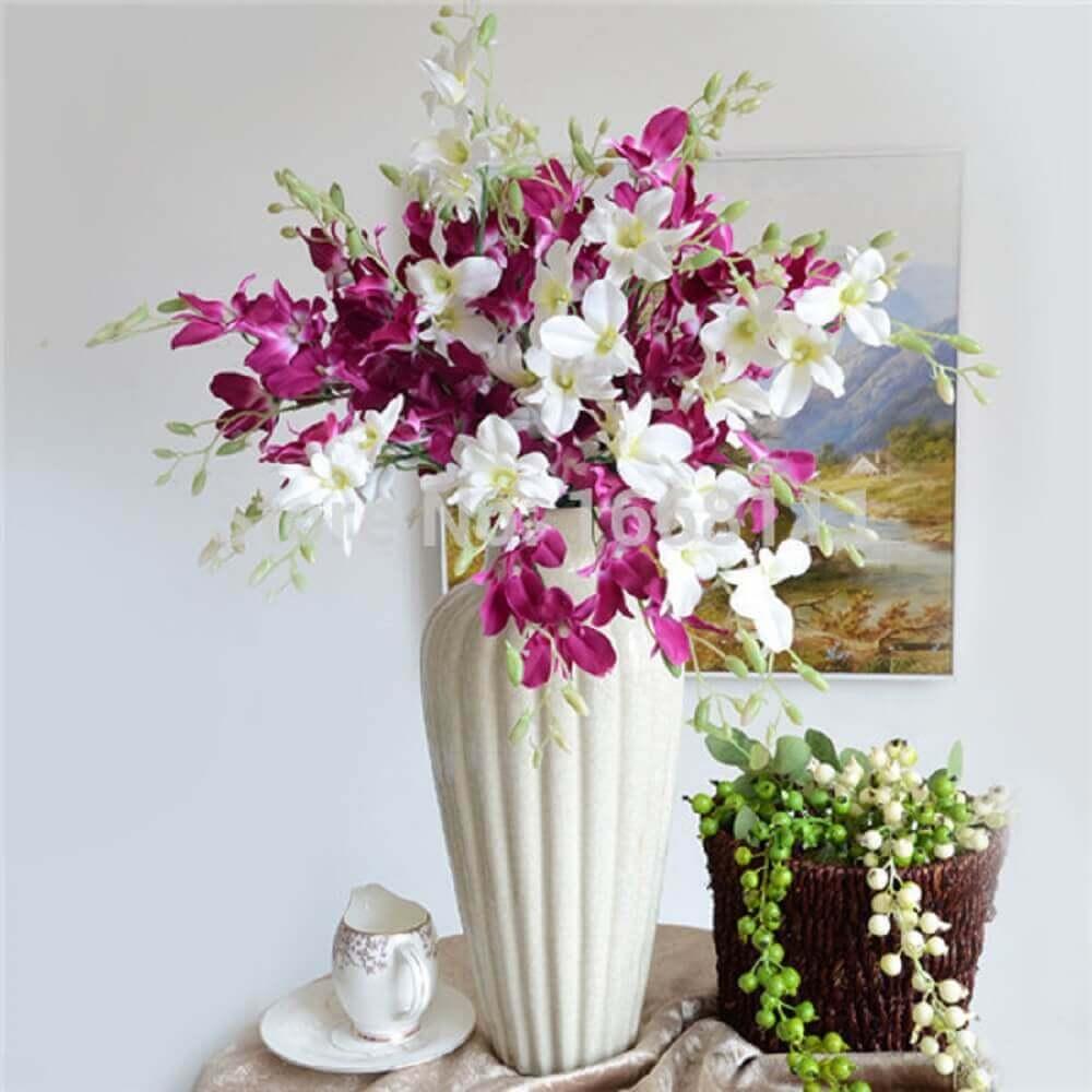 arranjos de flores artificiais para sala