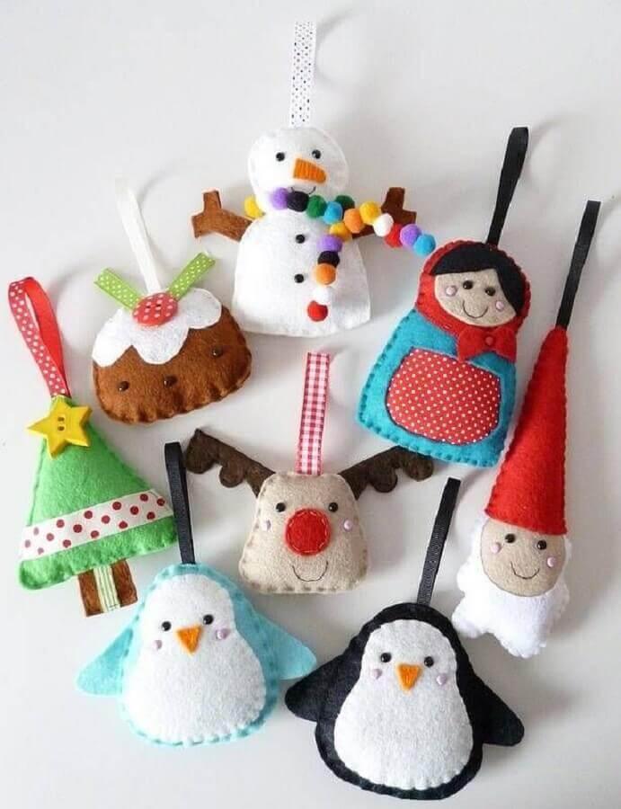 artesanato de feltro para bonequinhos de natal