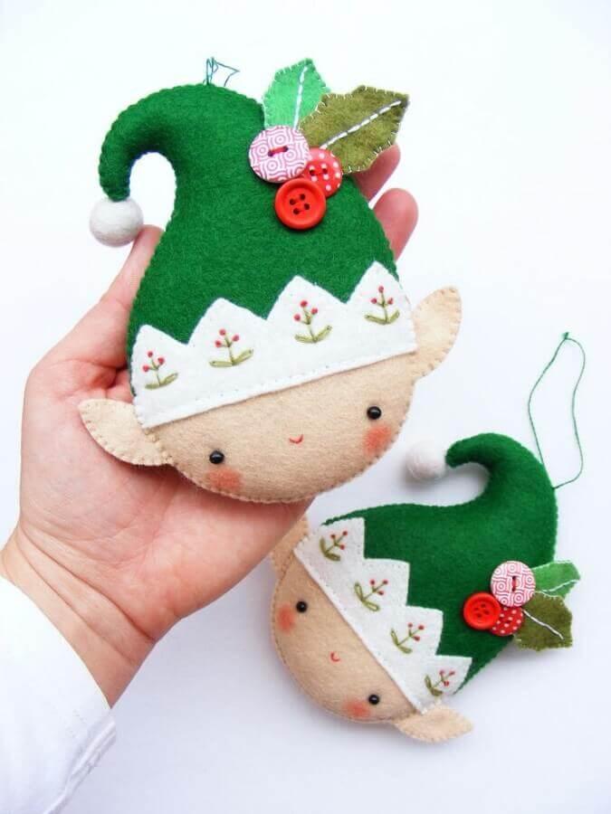 artesanato de feltro para decoração de natal