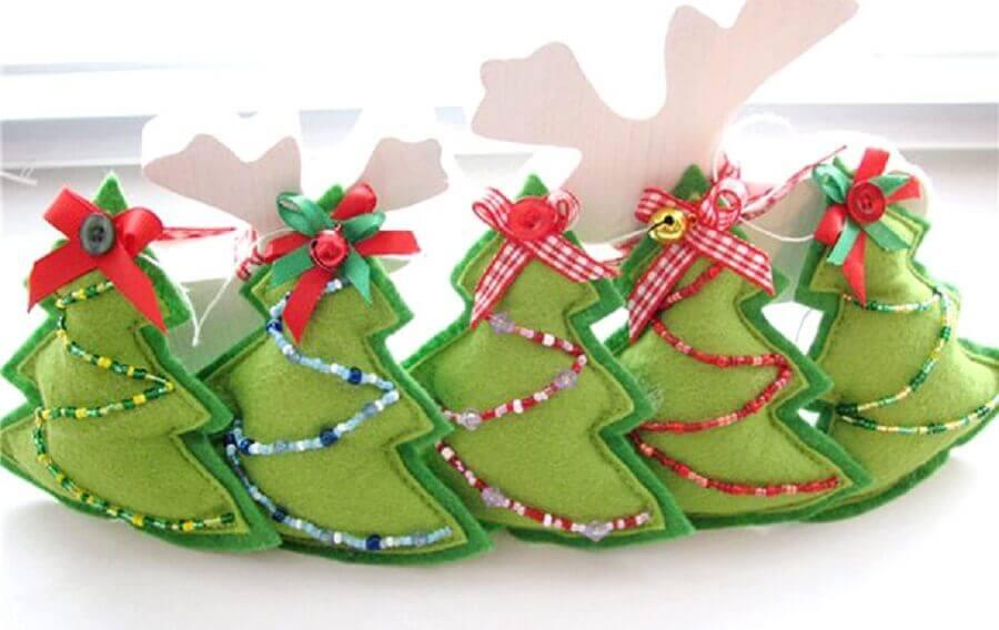artesanato de feltro para decoração natalina