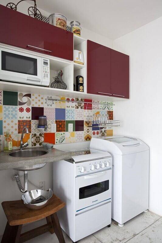 azulejo decorativo para cozinha pequena