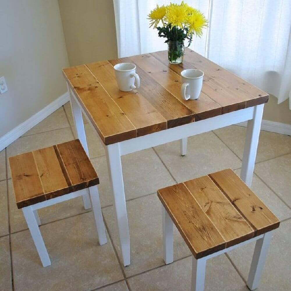 banco mesa de jantar pequena