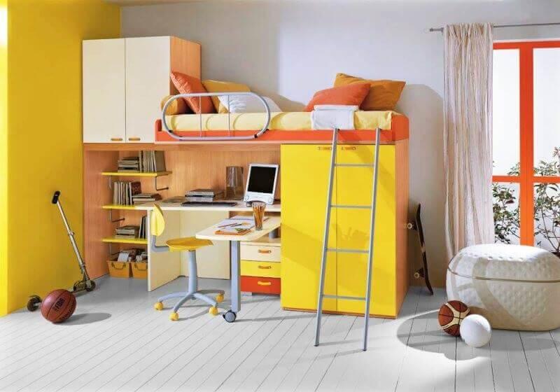 beliche com escrivaninha e armário