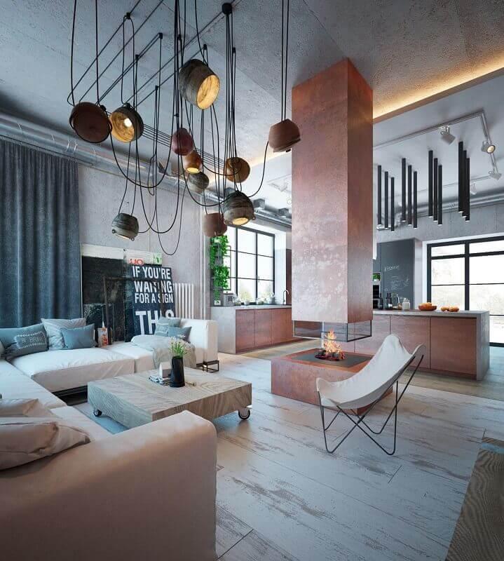 casa decorada estilo industrial