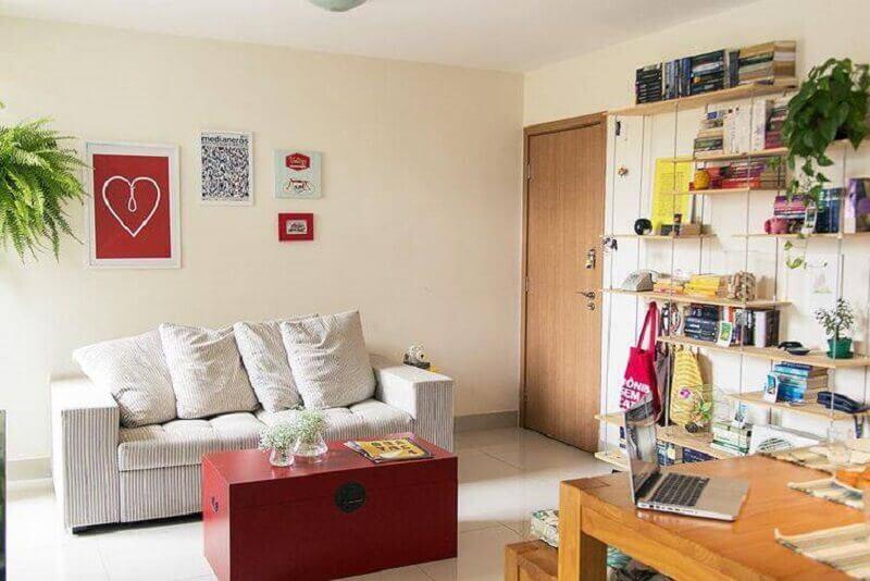 Decoração de casa simples e confortável