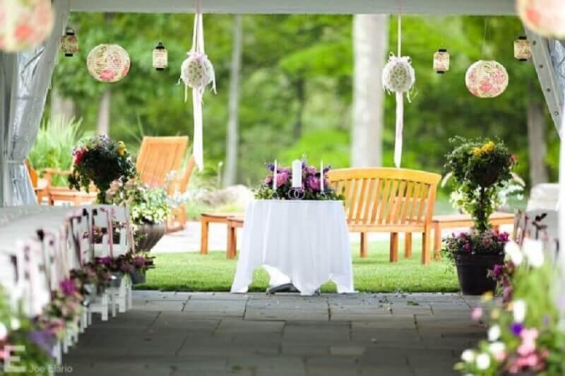 casamento em casa - decoração