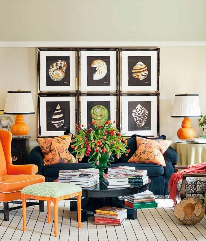 casas decoradas com quadros