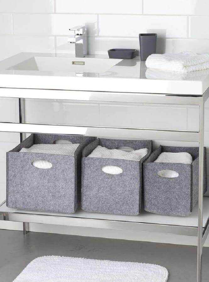 cestos organizadores feitos de artesanato em feltro