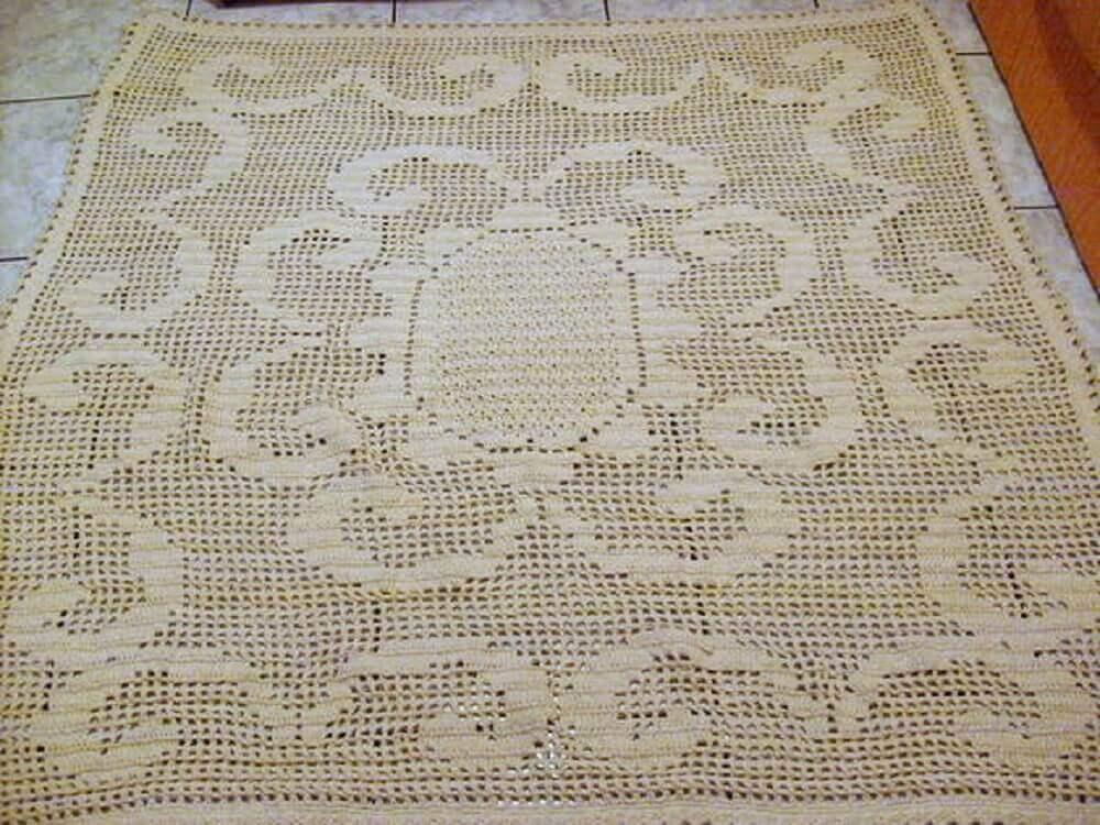 como fazer tapete de crochê quadrado