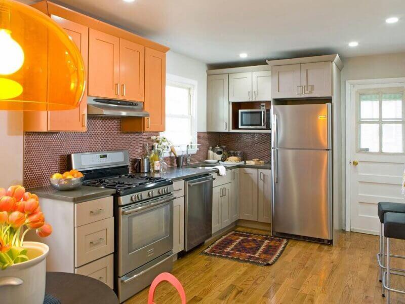 cores na decoração de cozinha