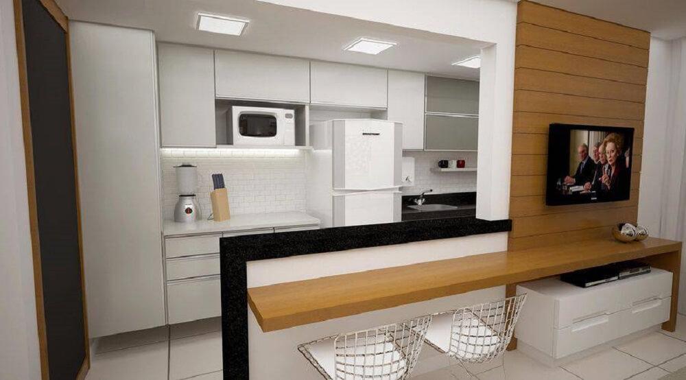 cozinha americana simples planejada