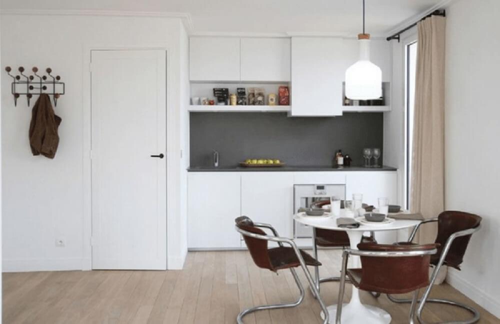 Decoração cozinha planejada simples branca