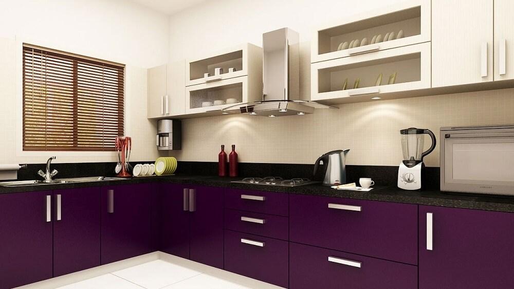 cozinha simples colorida