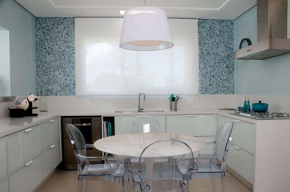 cozinha simples decorada com pendente