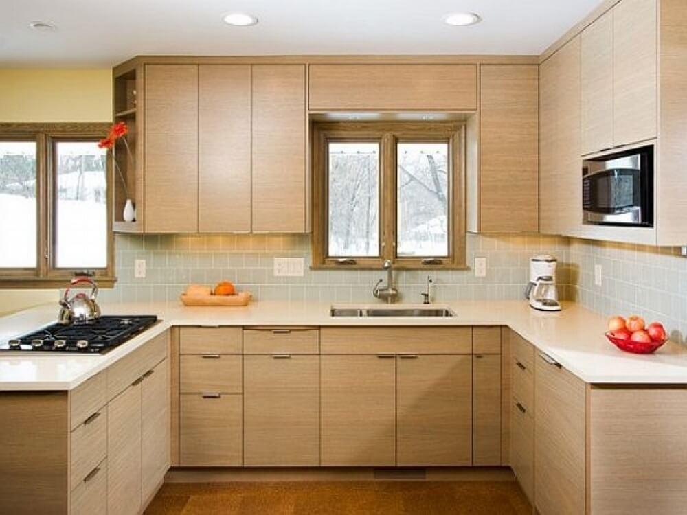 cozinhas simples e bonitas de madeira