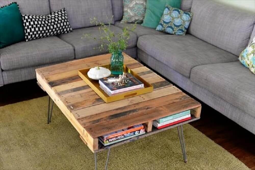 decoração com mesa de centro de paletes