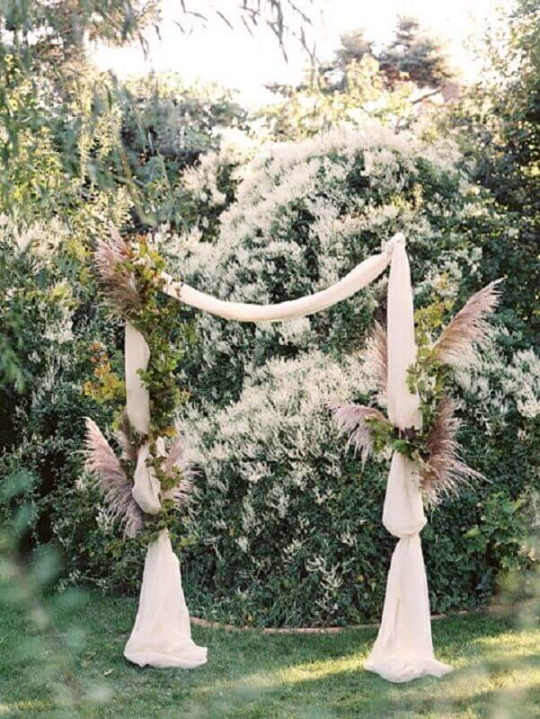 rustic outdoor wedding decoration