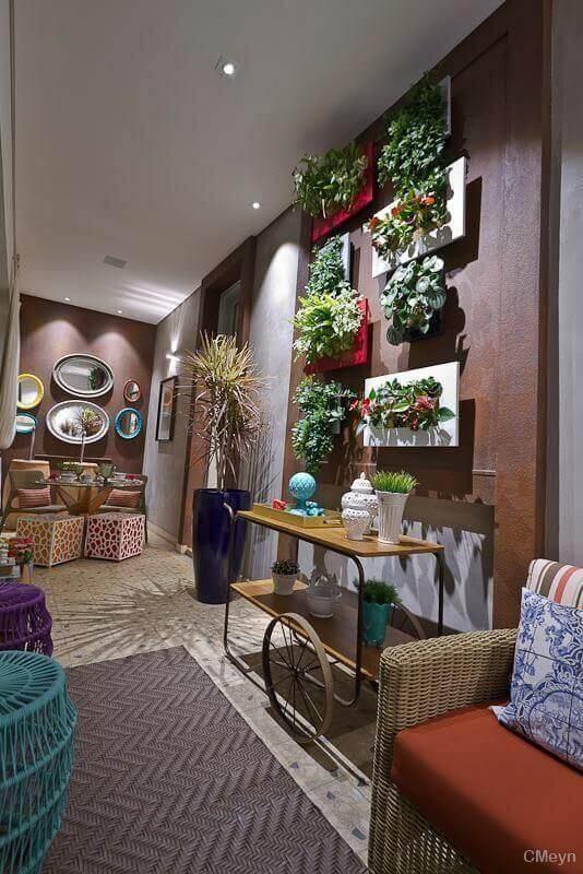 decoração de casas com jardim vertical