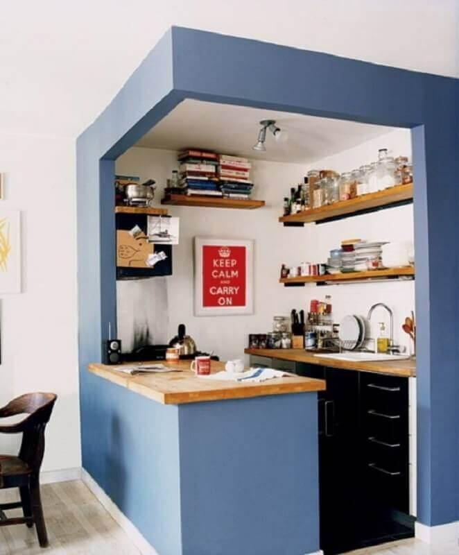 decoração de cozinha americana bem pequena