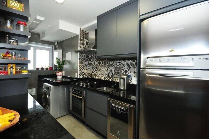 Decoração de cozinha integrada