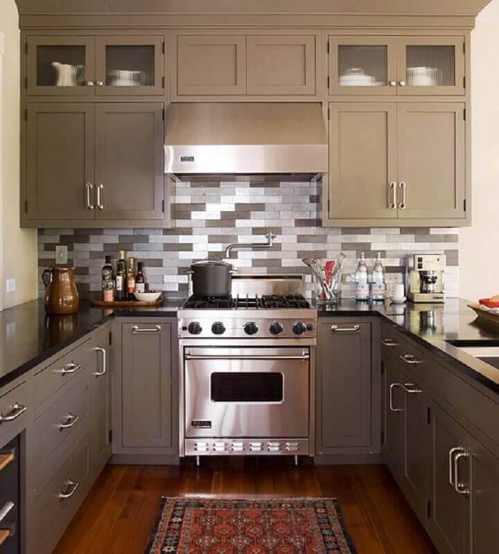 decoração de cozinha em aço inox