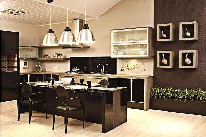 decoração de cozinha espaçosa