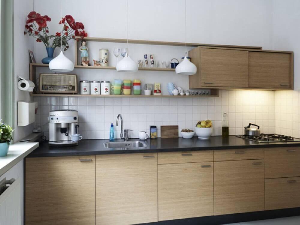 decoração de cozinha simples com nichos