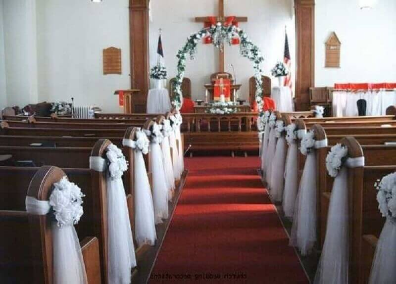 church decoration for simple wedding